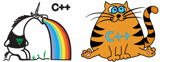 Figure 2 - Logos of PVS-Studio (left) and CppCat (right)