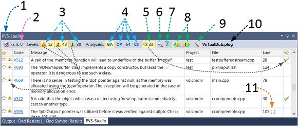 Рисунок 5. Окно с диагностическими сообщениями. Нажмите на рисунок для его увеличения.