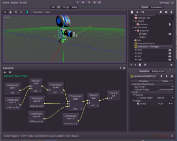 Figure 2. Godot has a sophisticated animation system.