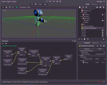 Рисунок 2. В движке Godot сложная анимационная система.