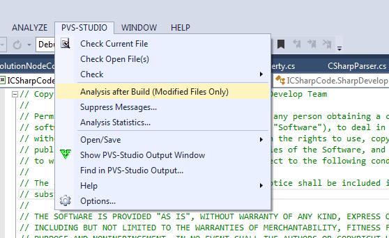 Рисунок 4. Включение/выключение автоматической проверки файлов после компиляции.