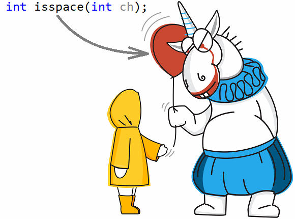 Figure 2. Unicorn confusing readers about isspace.