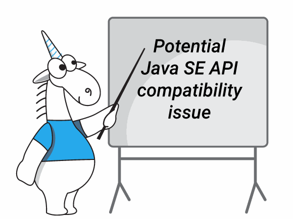 Java SE API comatability issues graphic
