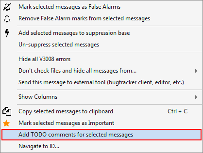 Figure 7 - Inserting the TODO comment