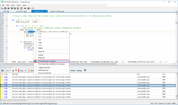 Viewing Analysis Results with C and C++ Compiler Monitoring UI